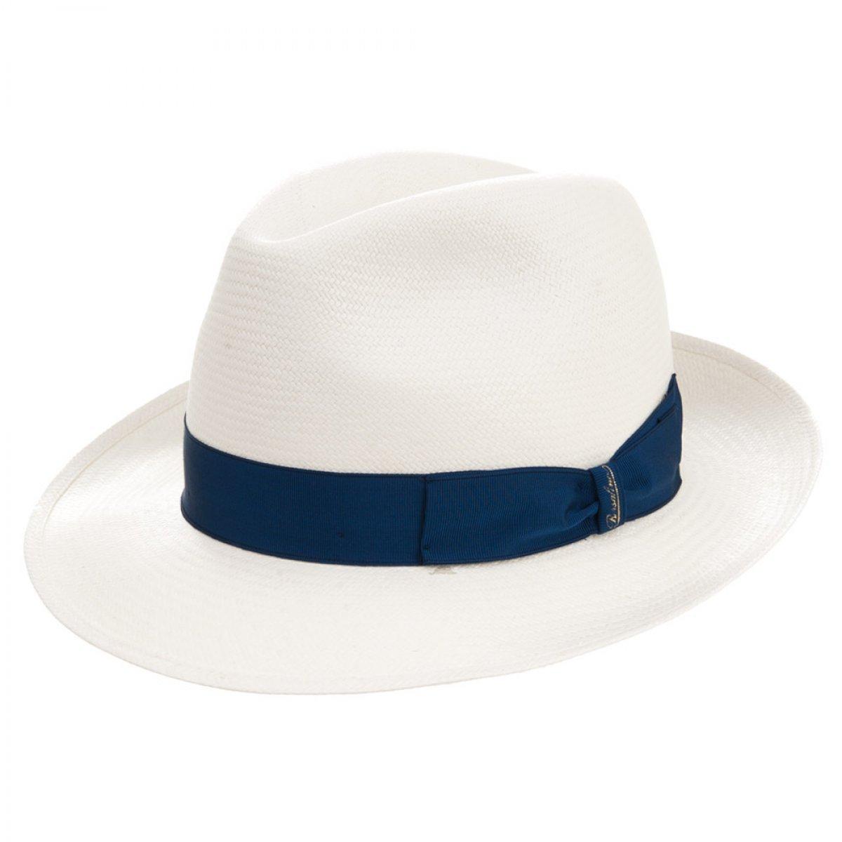 2ef521f413cd84 Panama straw hat signed Borsalino ...
