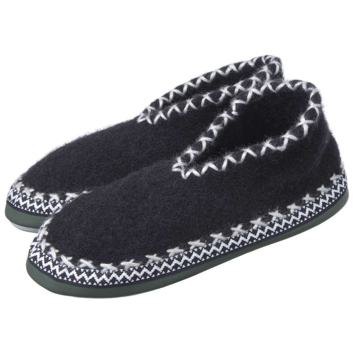 best authentic 1d276 617de Pantofole chiuse di lana con suola in pelle