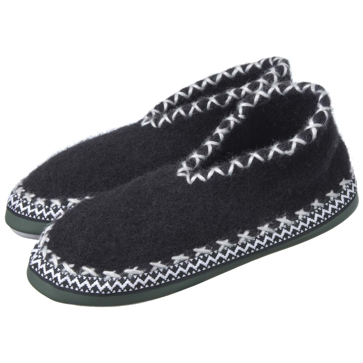 Pantofole chiuse di lana con suola in pelle ... a84d30fc3a2