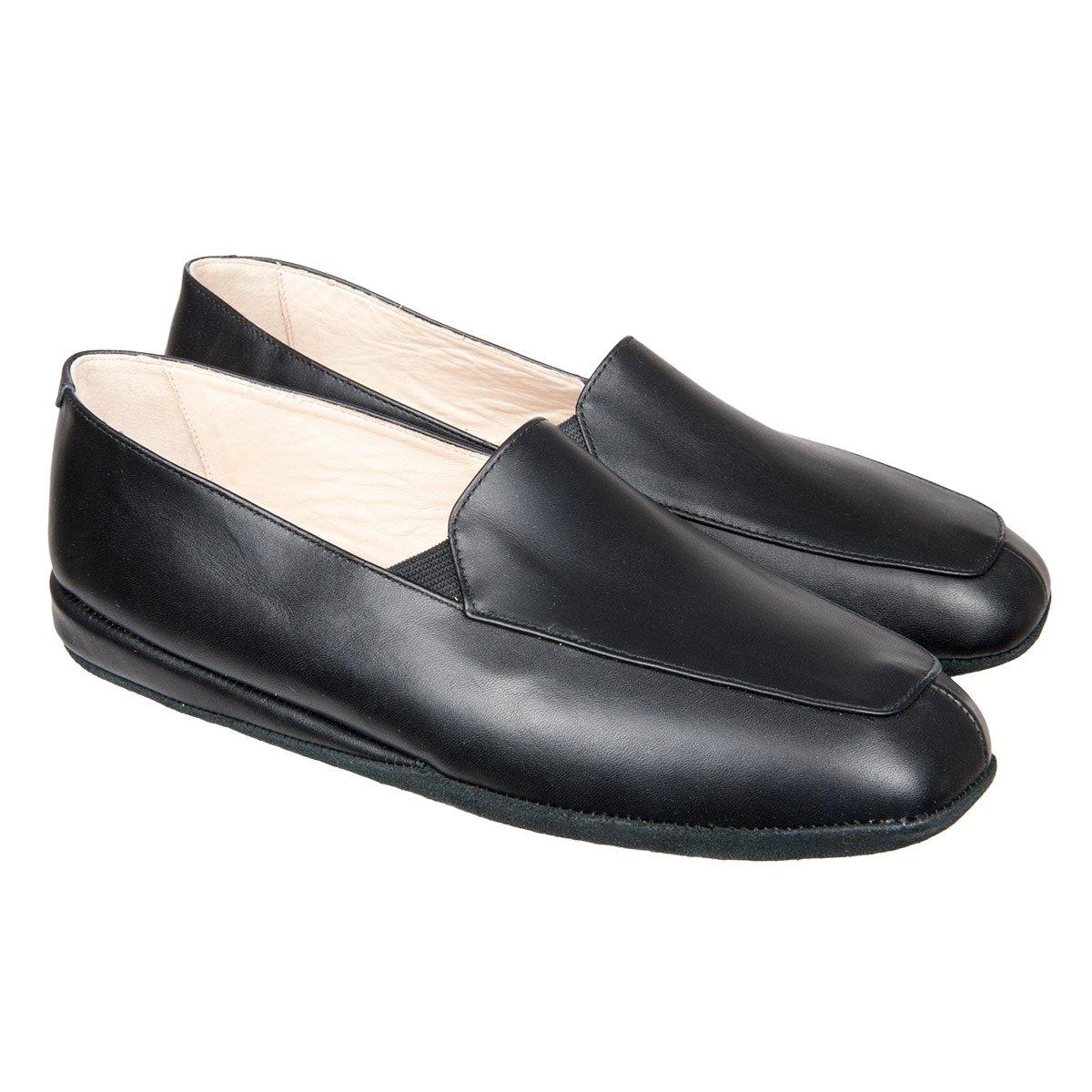Pantofole da uomo in pelle fatte a mano in alta qualità italiana ... 88df8dc4b90