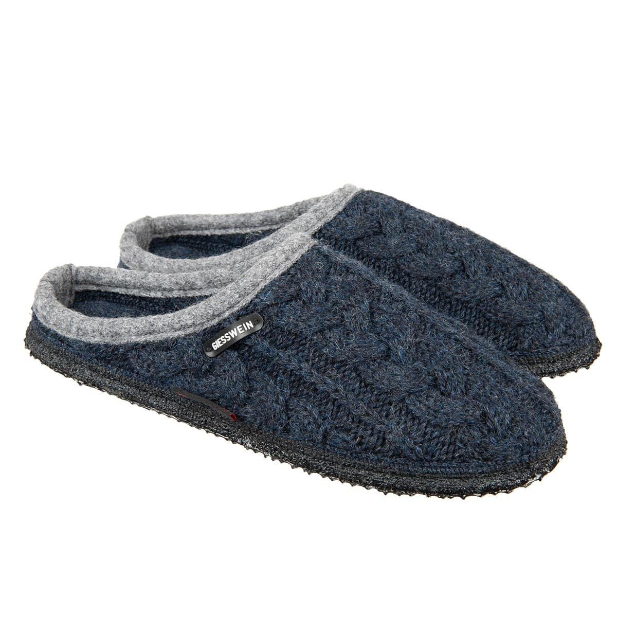 Pantofole firmate Giesswein aperte dietro modello Neudau ... fc33ec3c7c2a