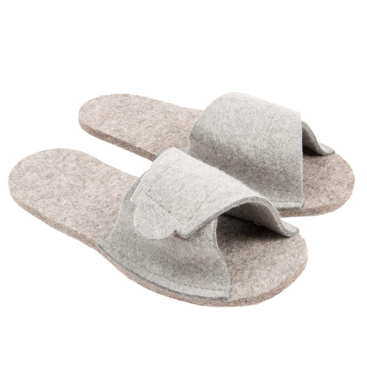 informazioni per autentico l'atteggiamento migliore Pantofole in puro feltro lana da usare come soprascarpa