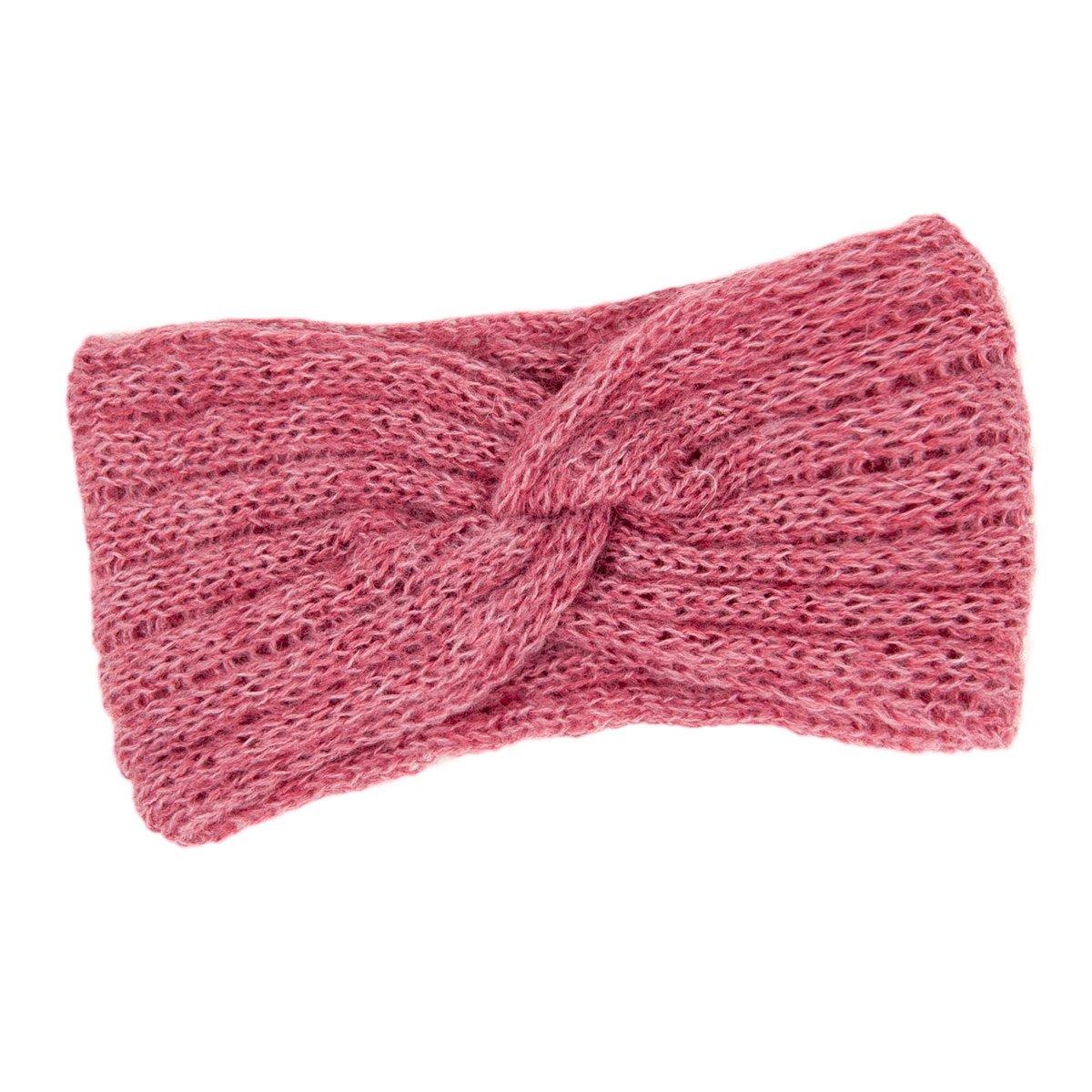 breites gestricktes Stirnband für Damen Made in Italy