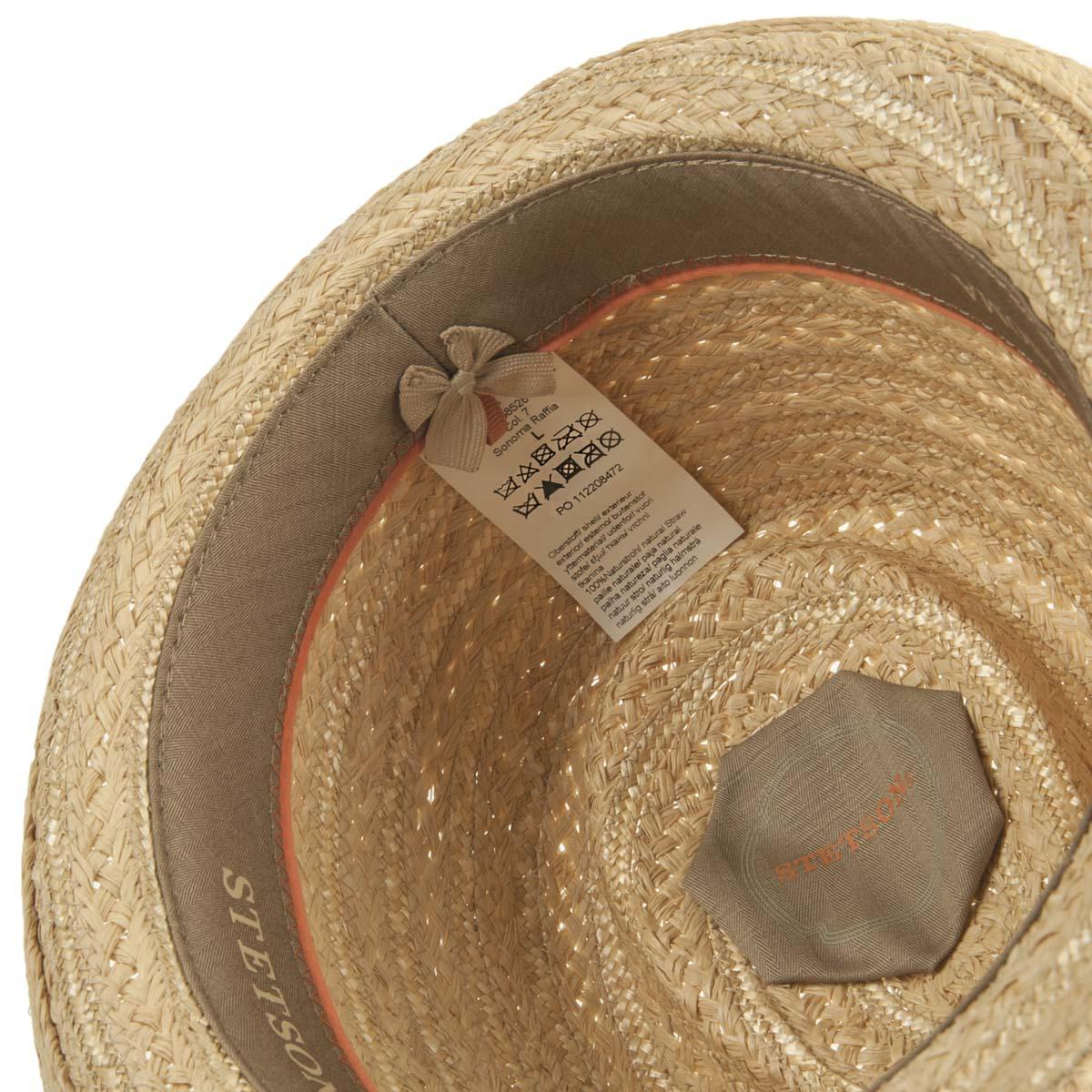 STETSON Trilby Hut aus Naturstroh Sonoma Raffia 01070a02f46