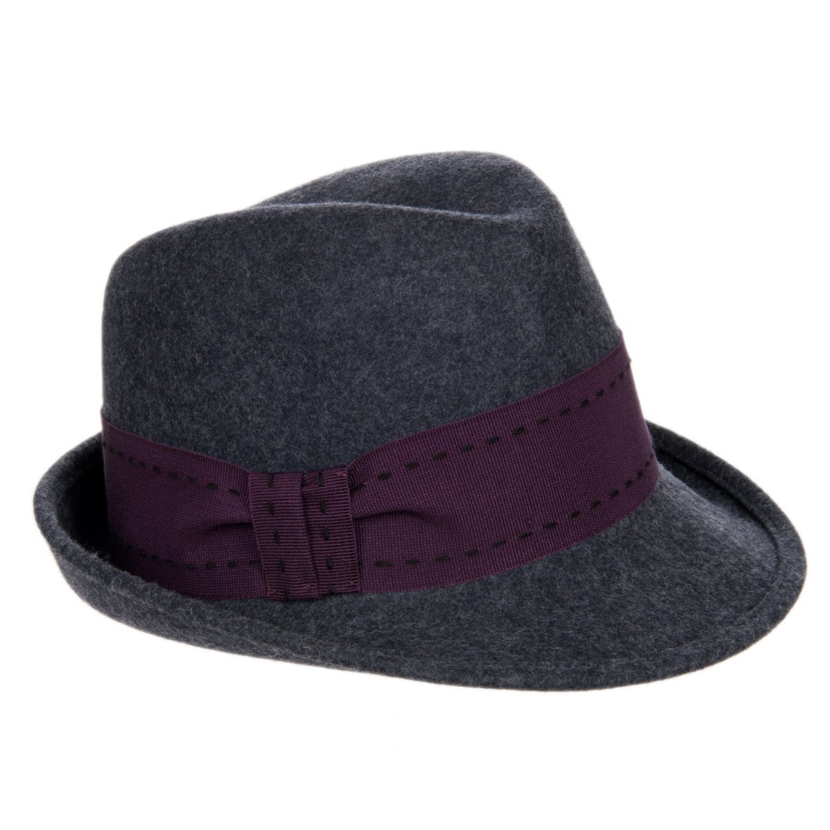 49811b9a4a606 Trilby with coloured hatband for women