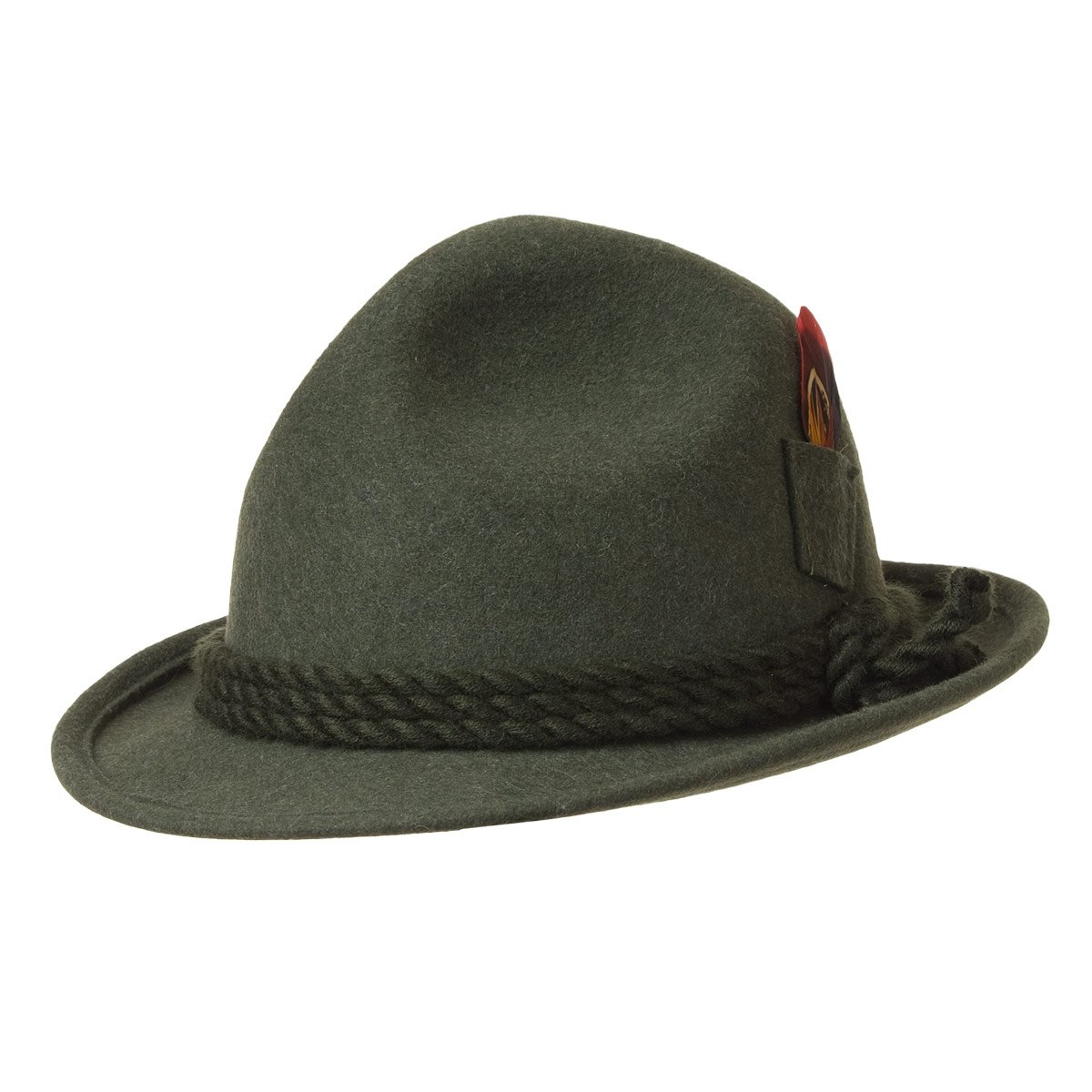 9721d1dbc Tyrolean hat with side pocket for feathers signed Hutter