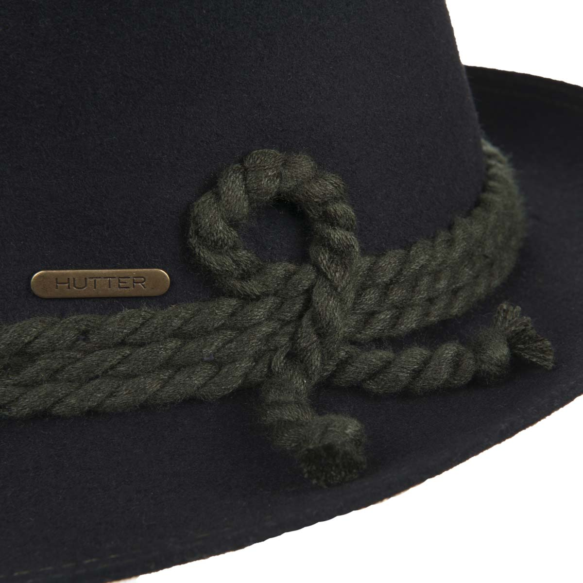 2727e0fd699 Wool felt hat with a wool string signed by HUTTER
