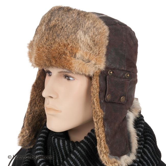 aviator hat in genuine leather by STETSON 7ad16f37474