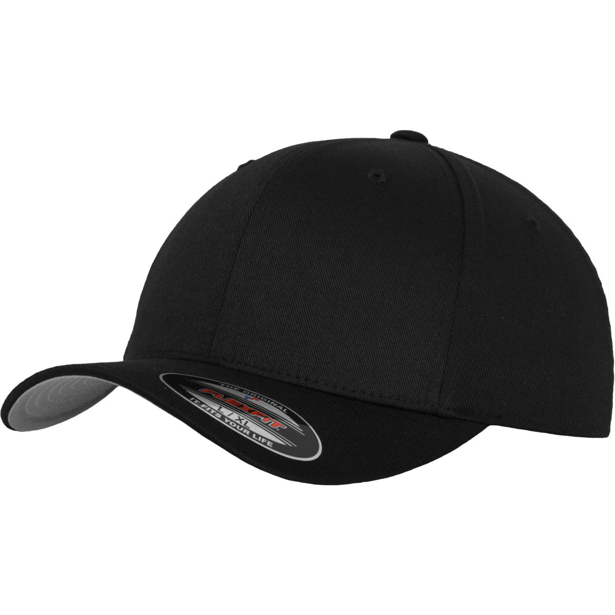 5dafb331c8 baseball cap for adults Flexfit Wooly Combed black XS S ...