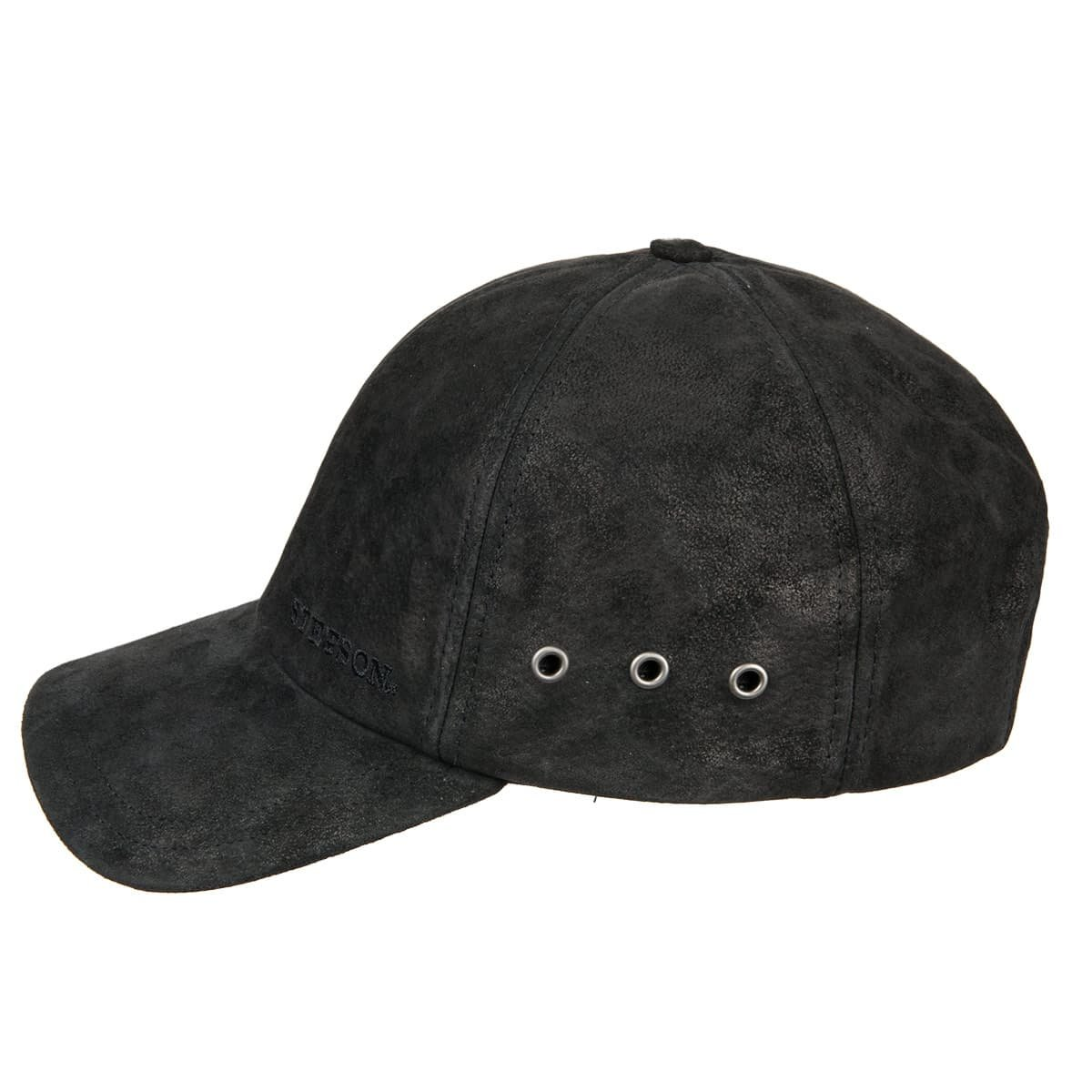 18fa3ba8a8f baseball cap in leather and lining in cotton by STETSON