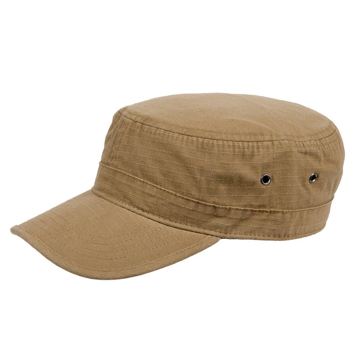 berretto con visiera stile militare in cotone e04bd25fc1f3