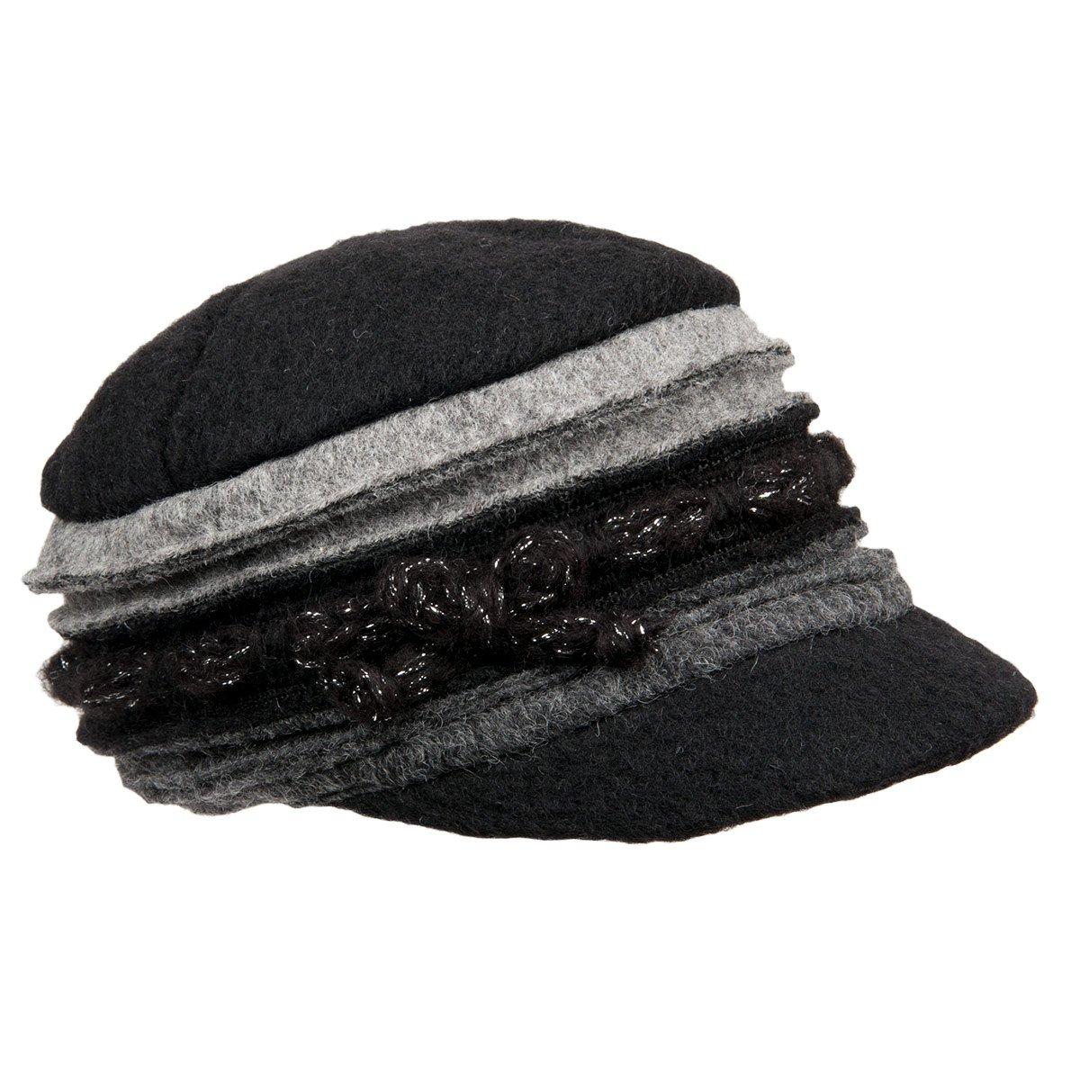 berretto con visierino in lana cotta per donna d6fc31d2b5a6