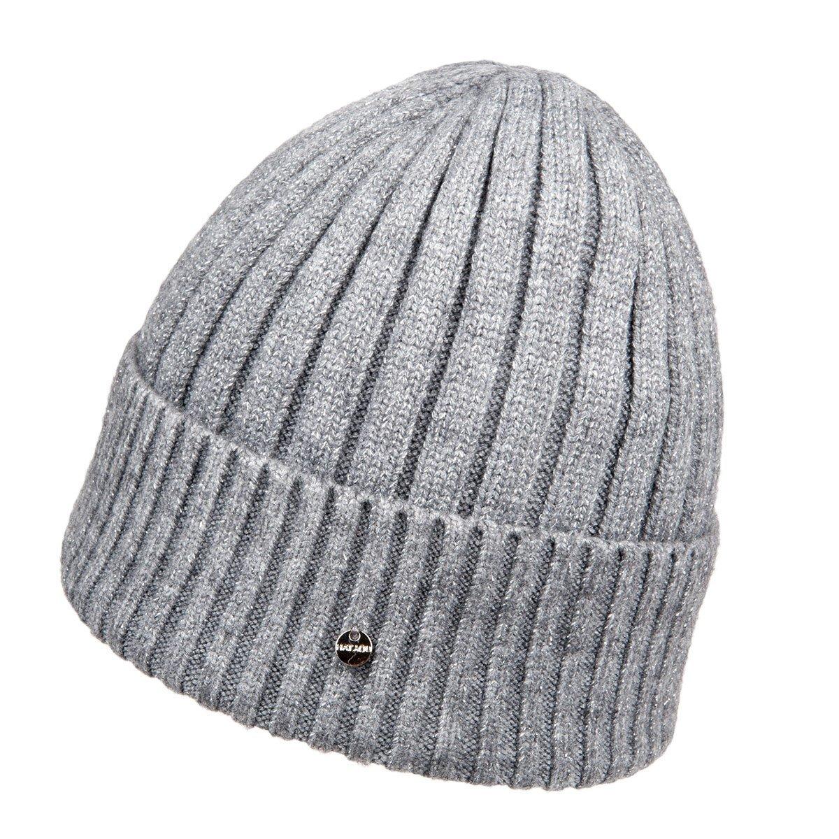berretto cuffia con risvolto in lana maglia con lurex 4343d6b6c542