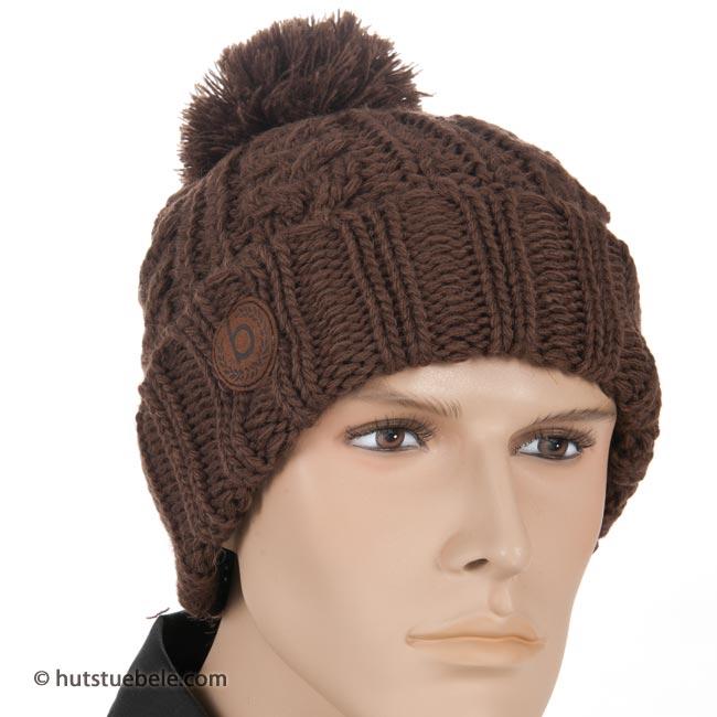 Bugatti - cappello invernale da uomo con un bel modello lavorato a ... 917bd2b4f9a7