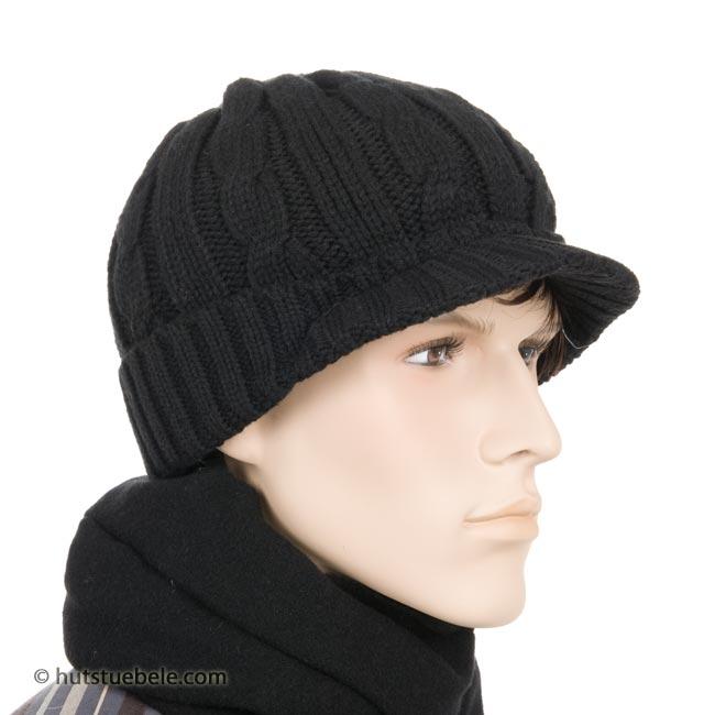 berretto in lana con visera ... f36fe4b5a2ae