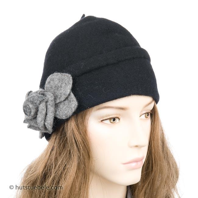 berretto in lana cotta con applicazione ... c021a97aebff