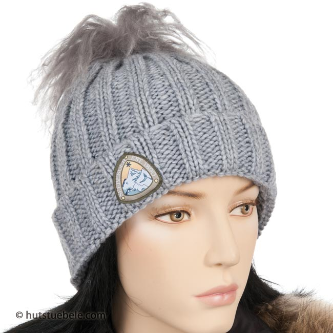 Cappello da donna di Seeberger cappello invernale con vera lana di ... dfe365ddac9d