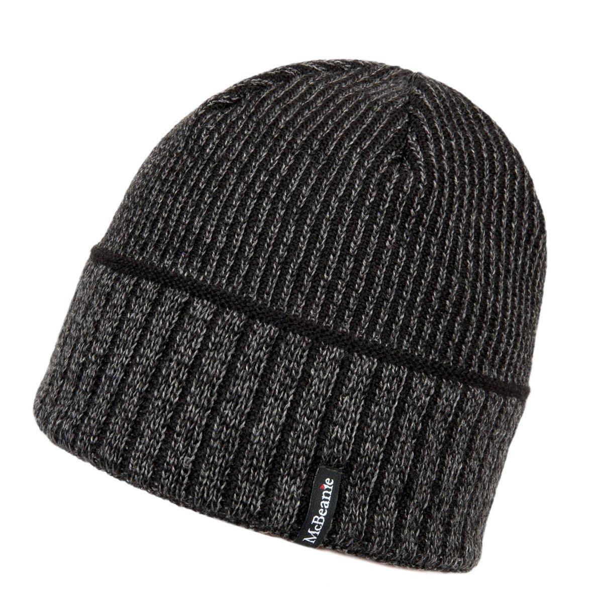 McBEANIE berretto semplice da uomo in lana ea698fcf1ff1