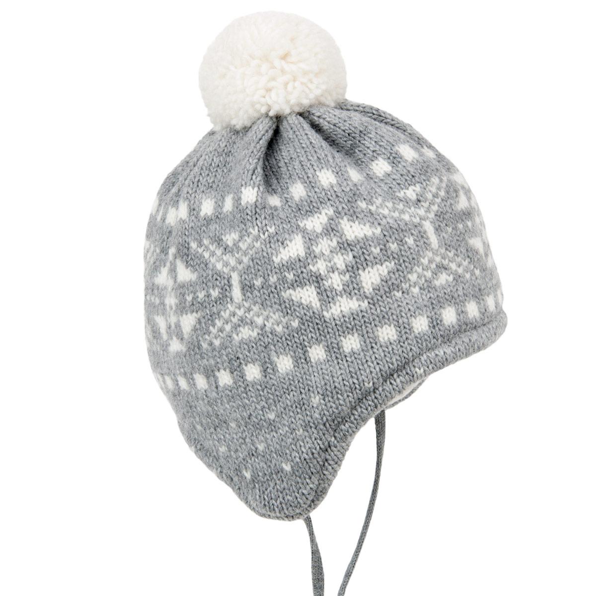 MAXIMO Cappello a maglia per i bambini da legare con fodera in cotone 5d267ceafddf