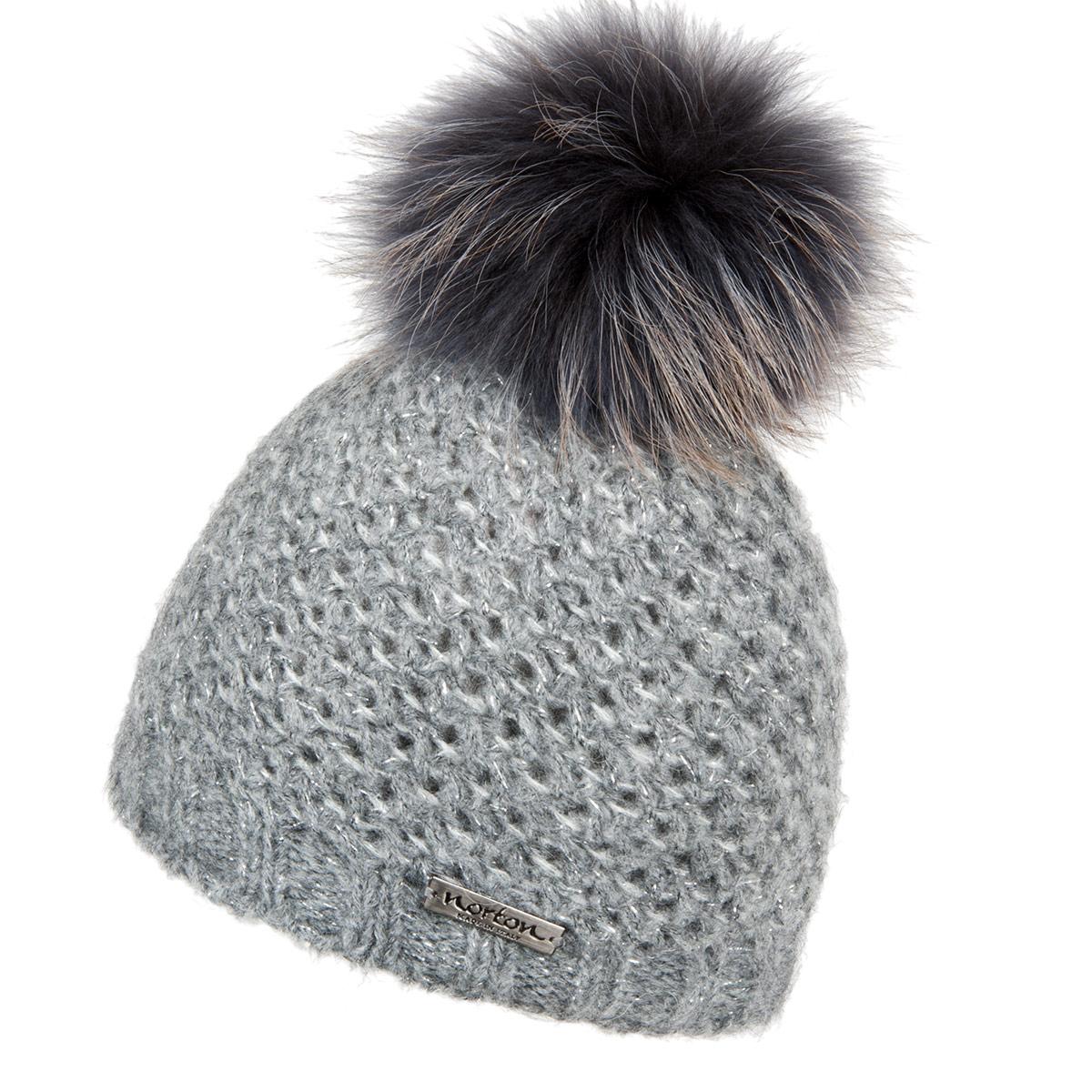 Lisa berretto a maglia con fodera in peluche firmato NORTON 6c6ef068f445