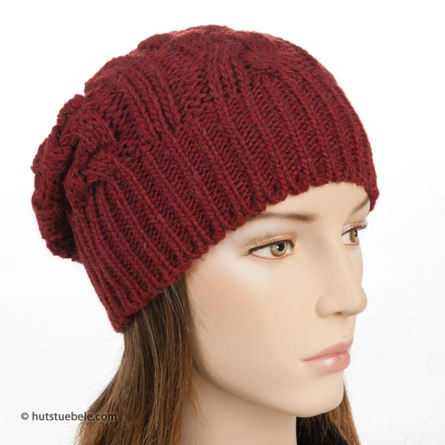 Cappello rasta da donna con fascia larga e motivo a treccia 31f782c4bf65