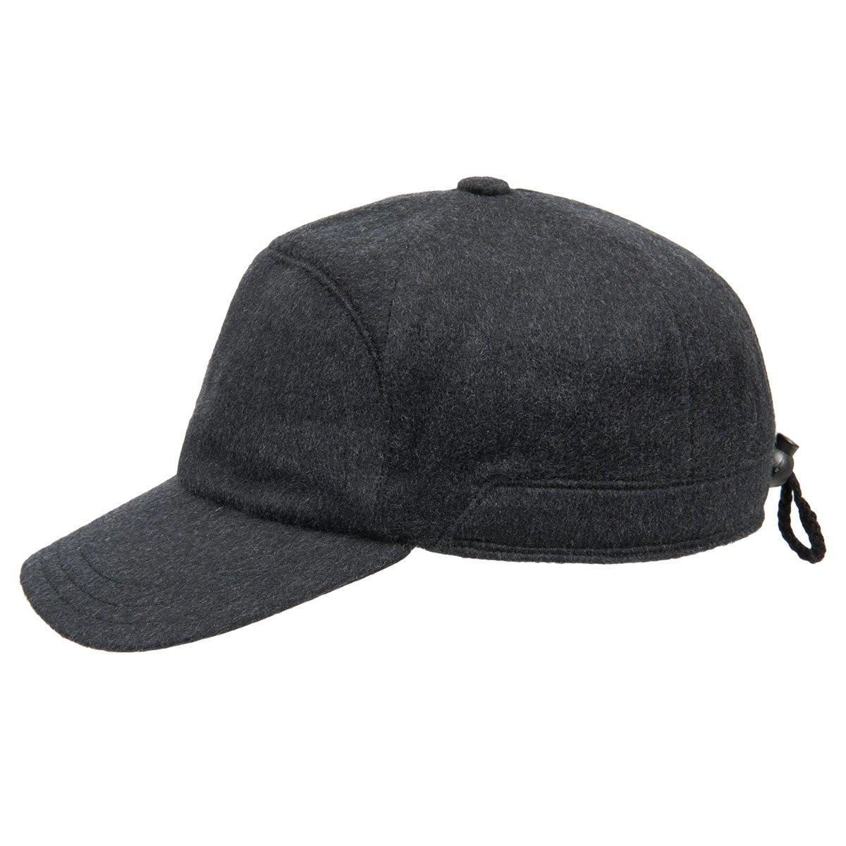 berretto visiera con paraorecchie in cashmere ... 5f49a6876031