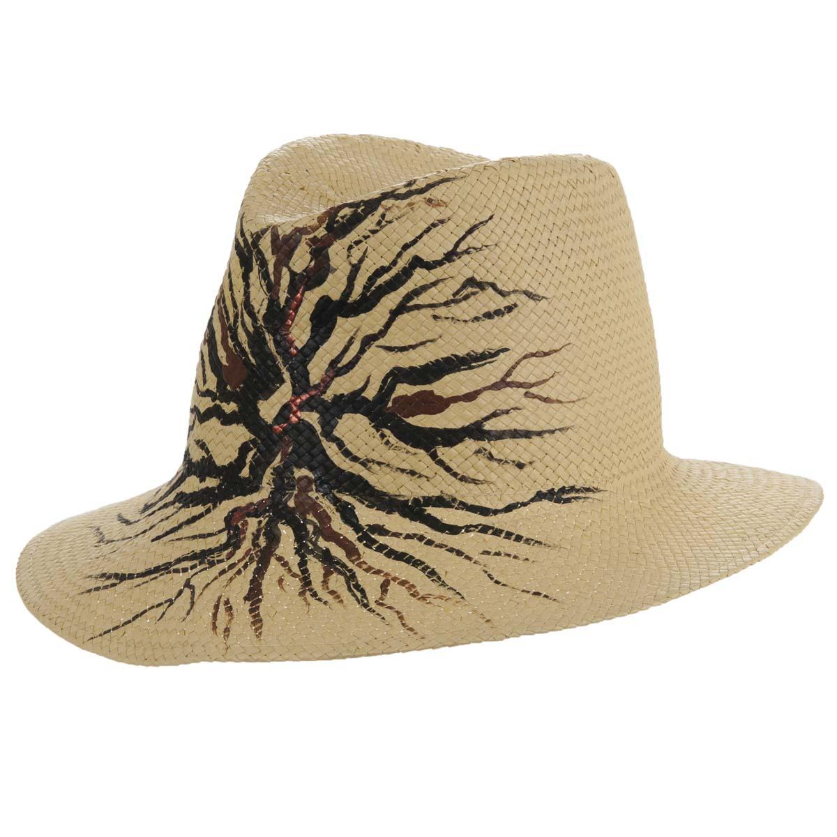 cappello Fedora dipinto a mano firmato ALESSANDRA BACCI ... a3b97ec31128