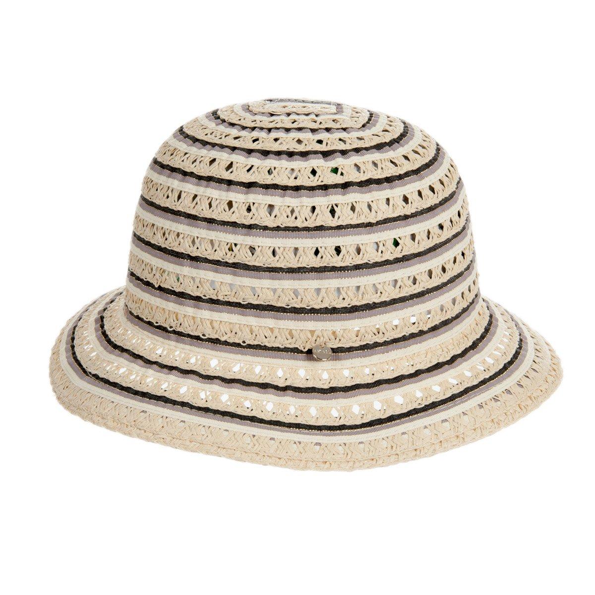 cappello di paglia carta mix da donna leggero