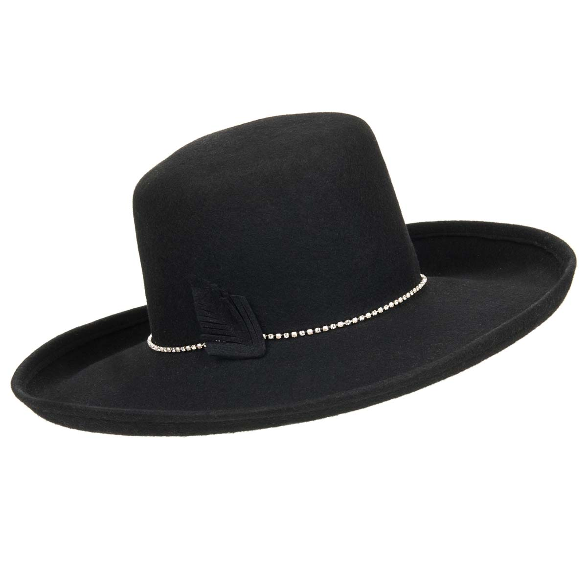 cappello a tesa larga da donna in 100% feltro di lana