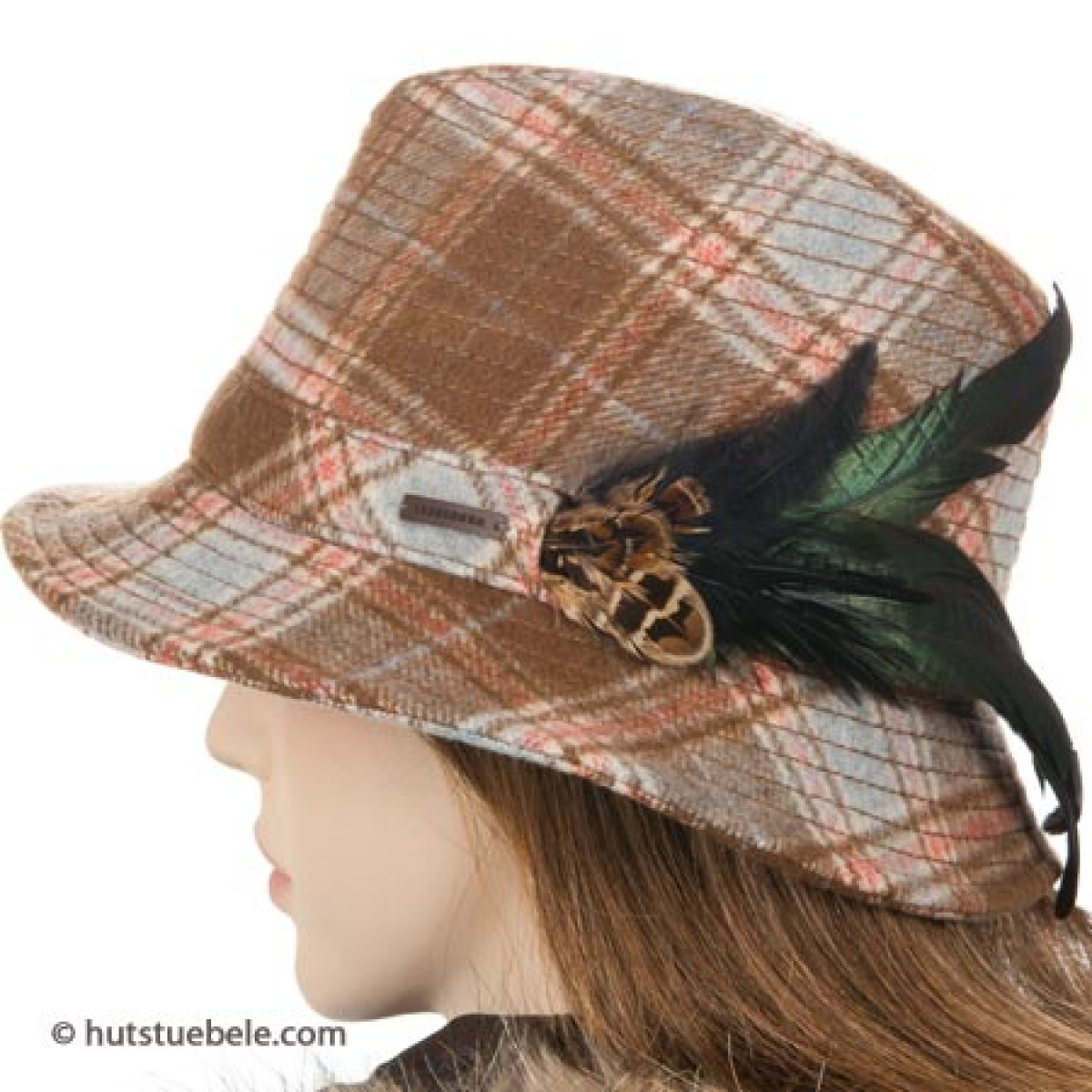 Cappello da donna attraente di Seeberger con ornamento di piume 5deb83d4db6b