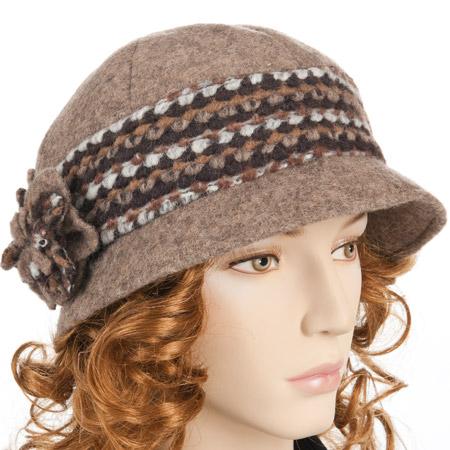 cappello da donna in tesuto cloche