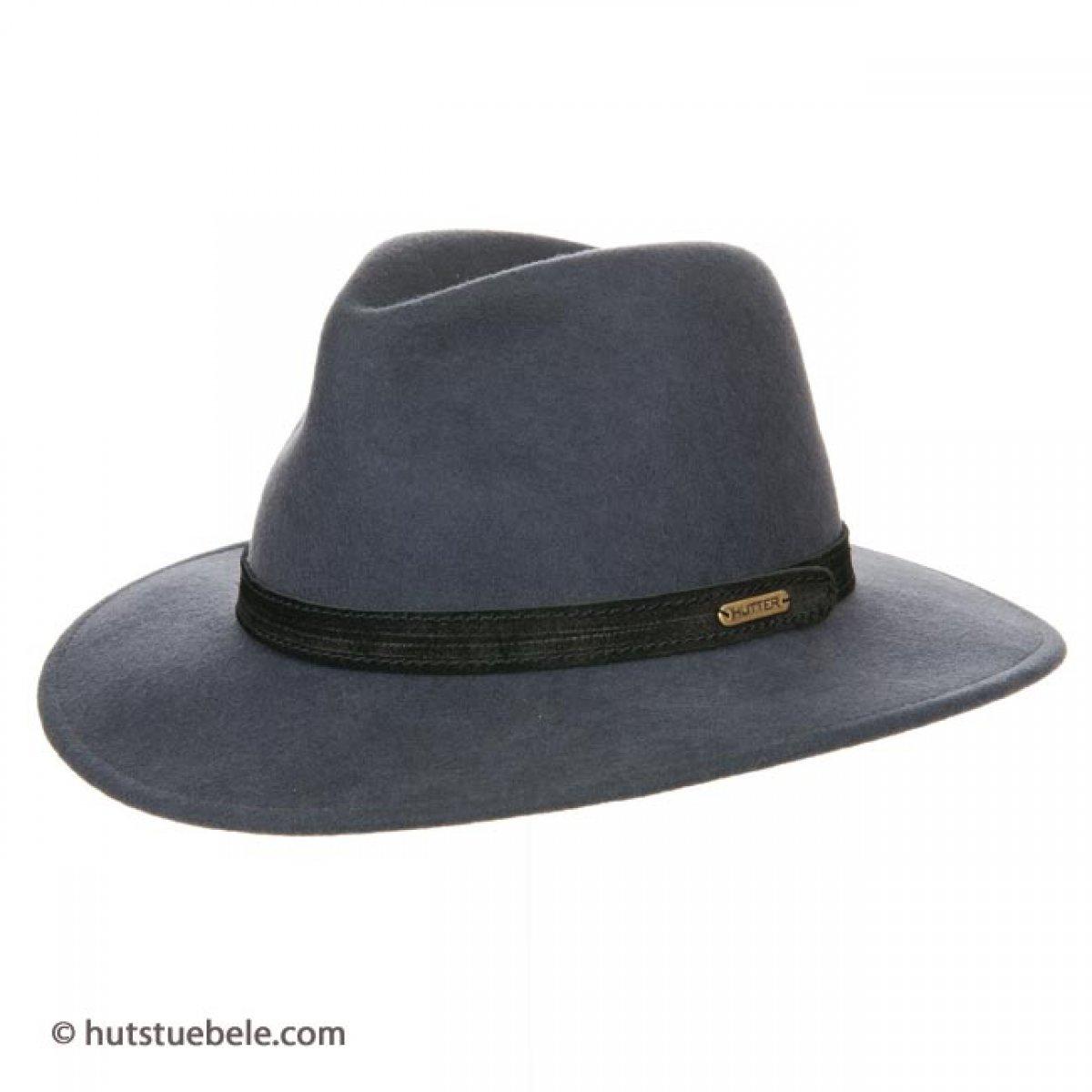 cappello da uomo con fascia in alcantara