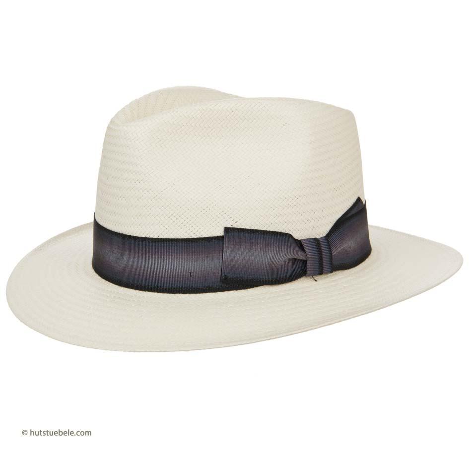 cappello estivo da uomo a tesa larga e guarnizione nastro sfumato firmato  Hutter b31af62fa393