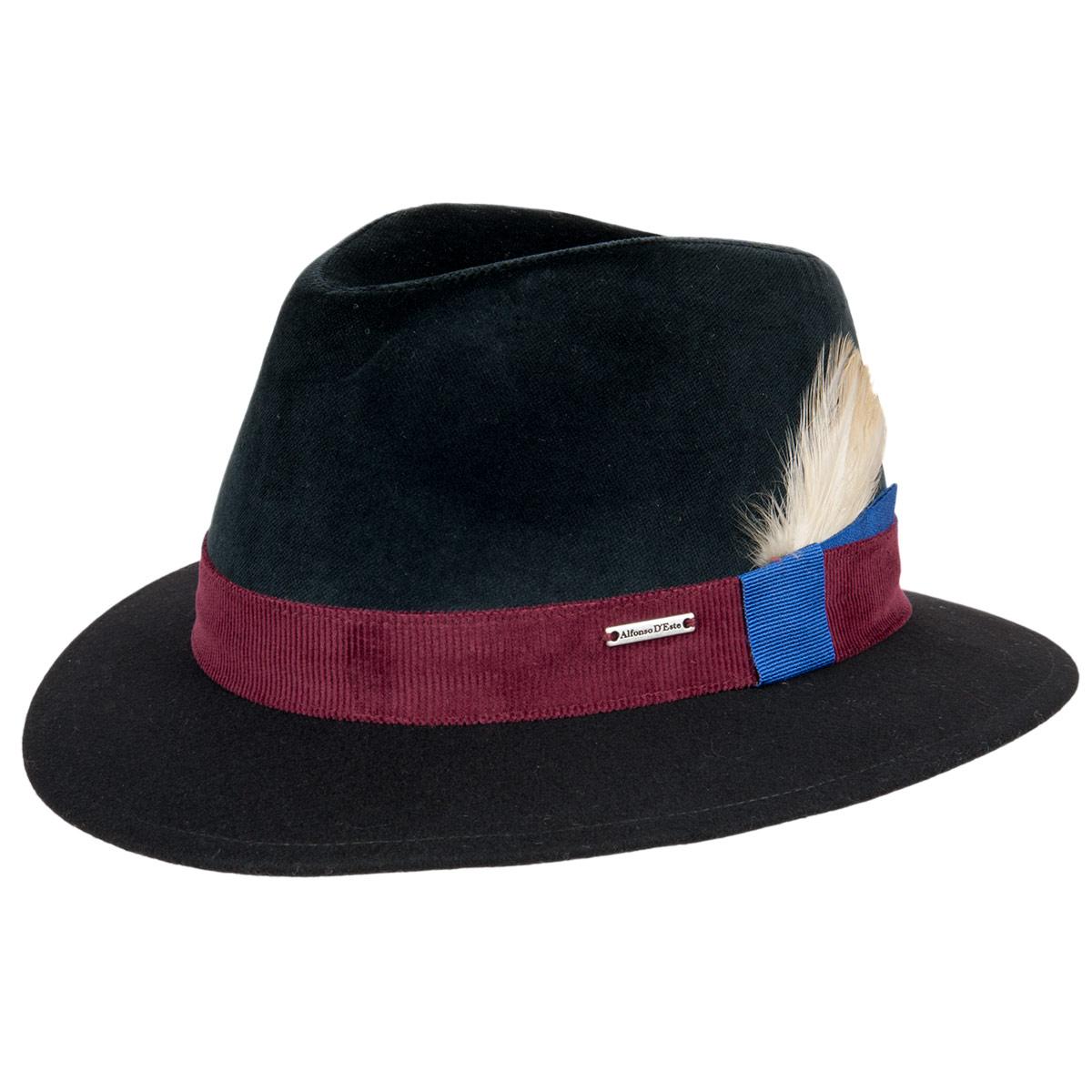 cappello fedora con tesa picccola firmato ALFONSO D ESTE 18468d6ddc34