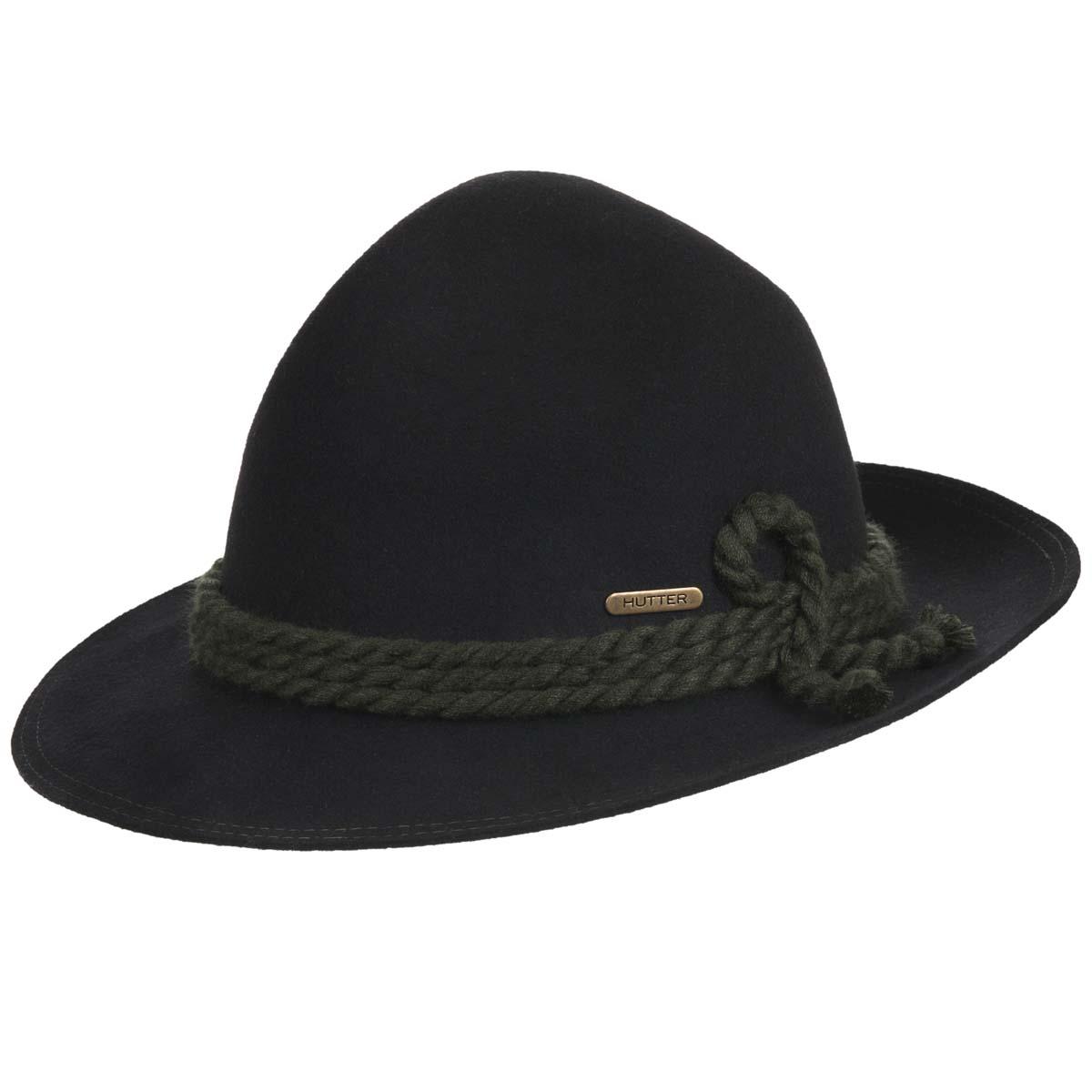 cappello in feltro di lana con cordone firmato Hutter ... 3e1294e2aa53