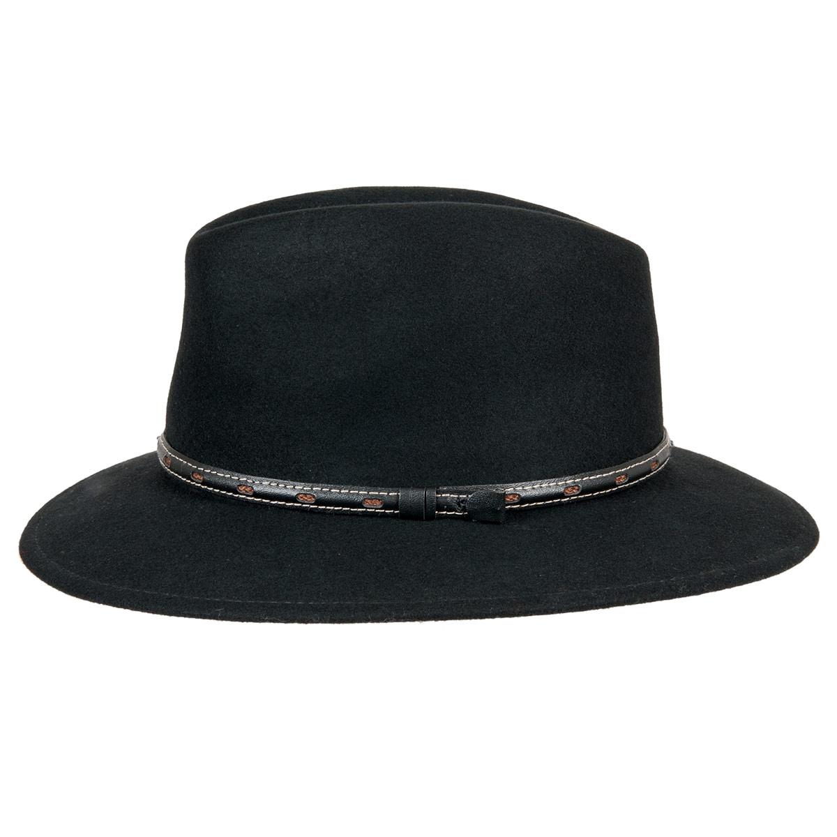 cappello in feltro di lana con tesa larga firmata HUTTER 55a6e6a10d9b