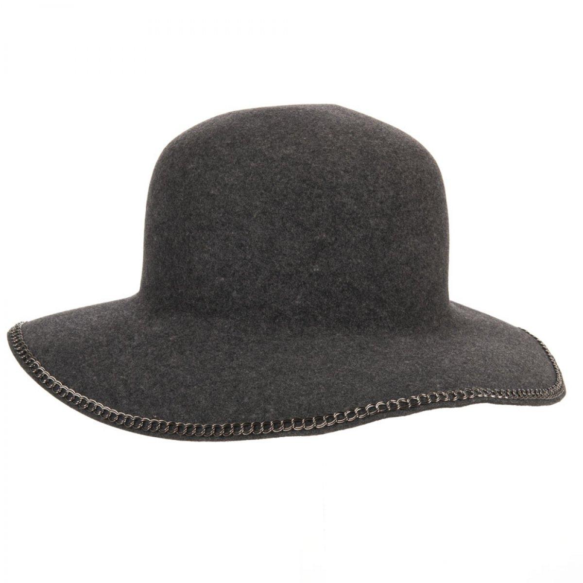 cappello in feltro lana da donna con tesa grande modello Pamela Wolga Soft  firmato Mayser 3f739519df36