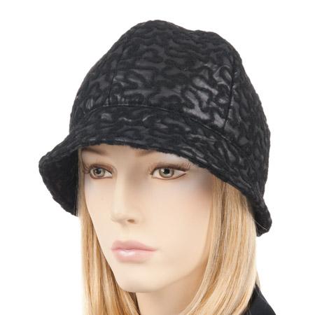 cappello in tesuto cloche da donna con tesa piccola