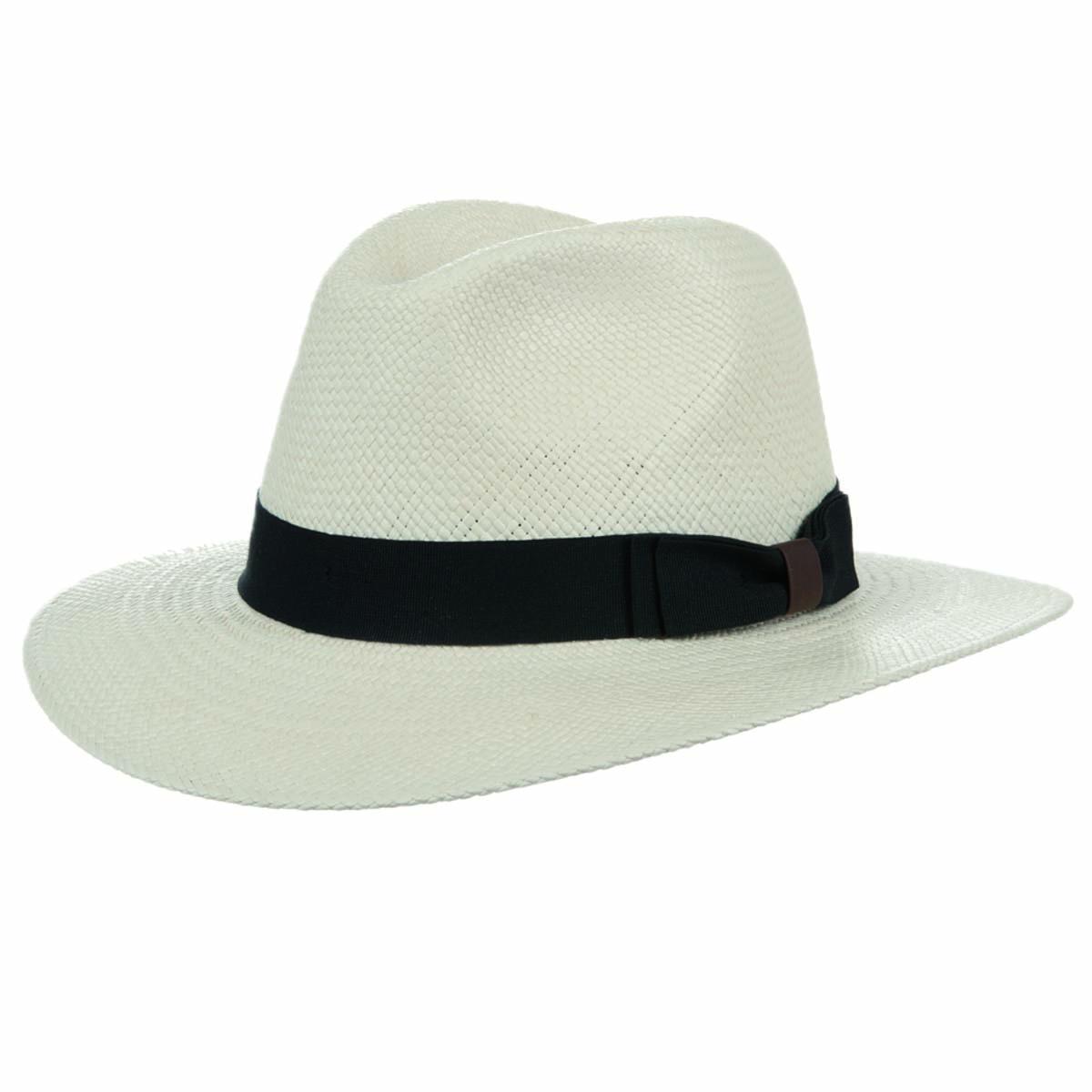 Cappello di paglia da uomo con garnitura a fascia nera cbefc55bc9ab