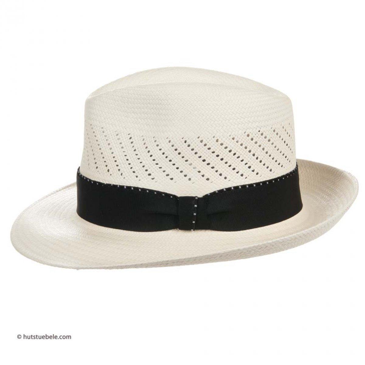 cappello panama da uomo by Hutter cappello Fedora con nastro nero ... d8c63fba7b60