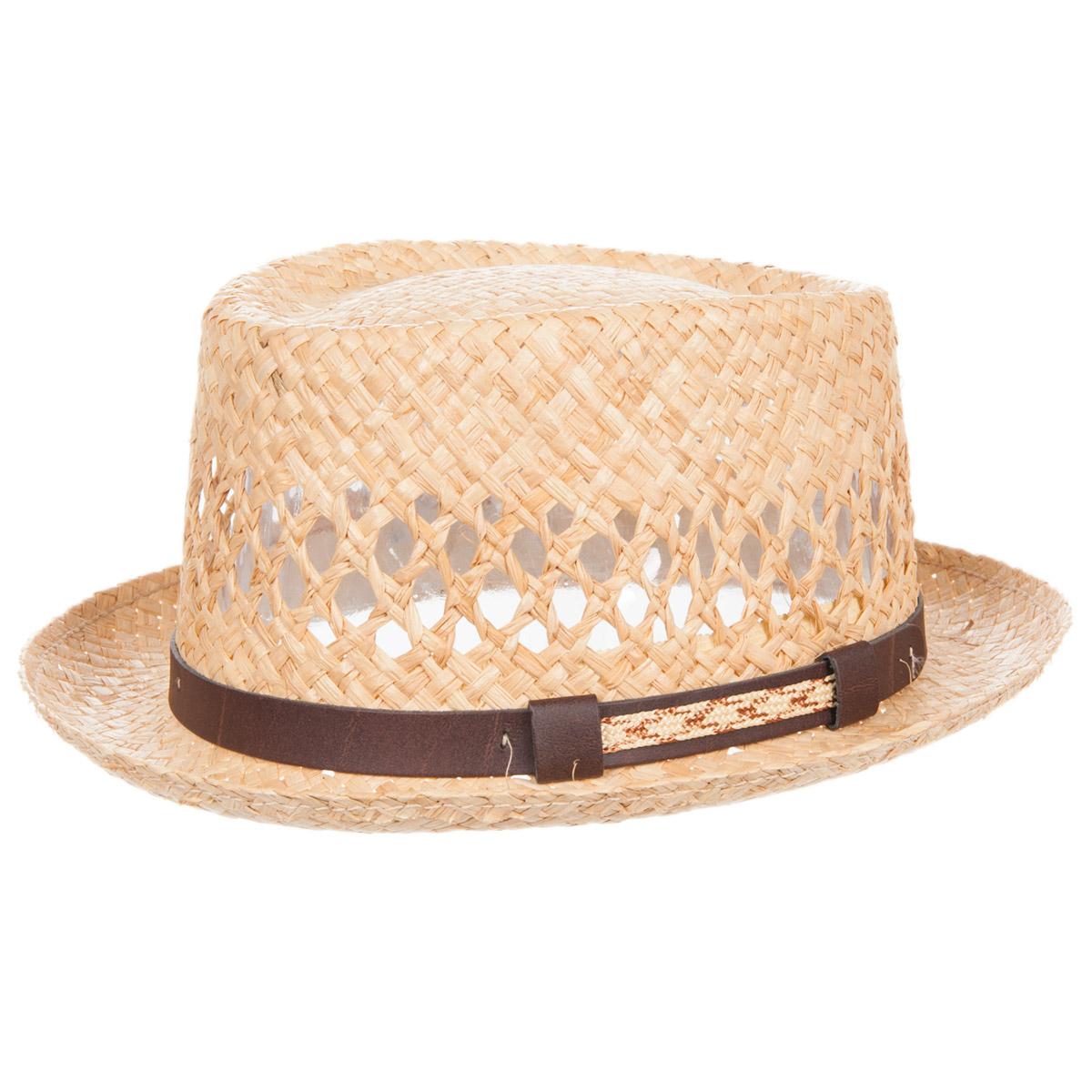 di modo attraente come ordinare disponibile cappello pork pie in paglia naturale