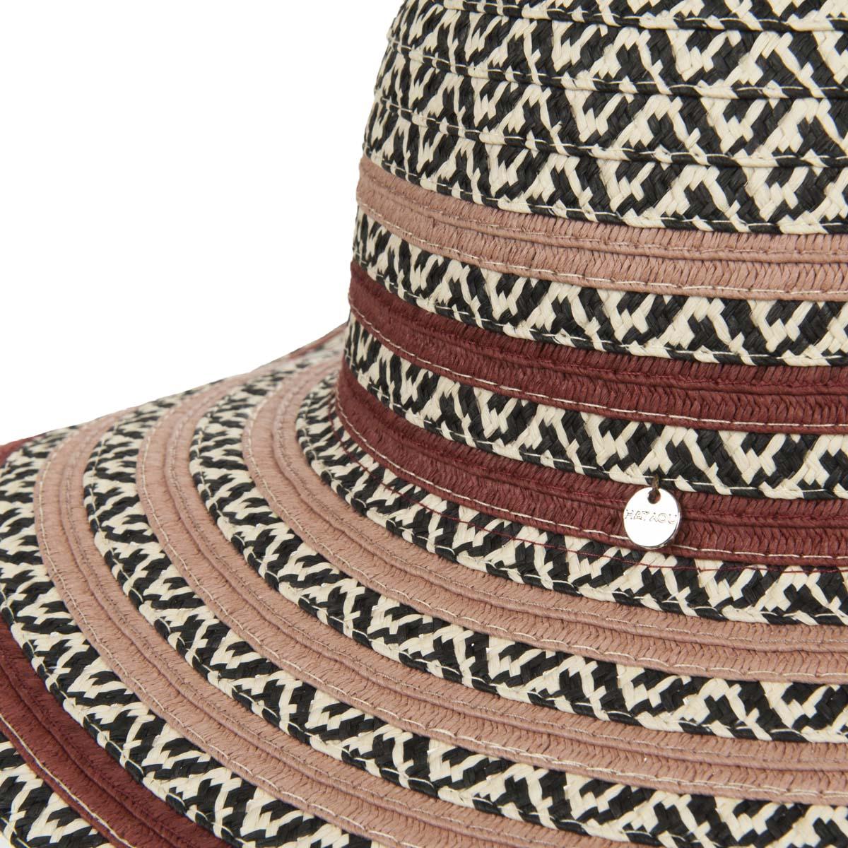 cappello a tesa larga da donna, in carta tessile