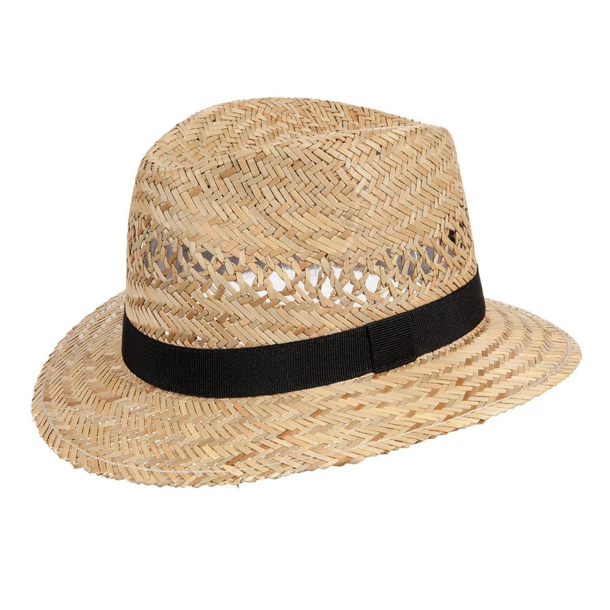 cappello sportivo di paglia con fascia nera ... 3d9c5b5e11dc