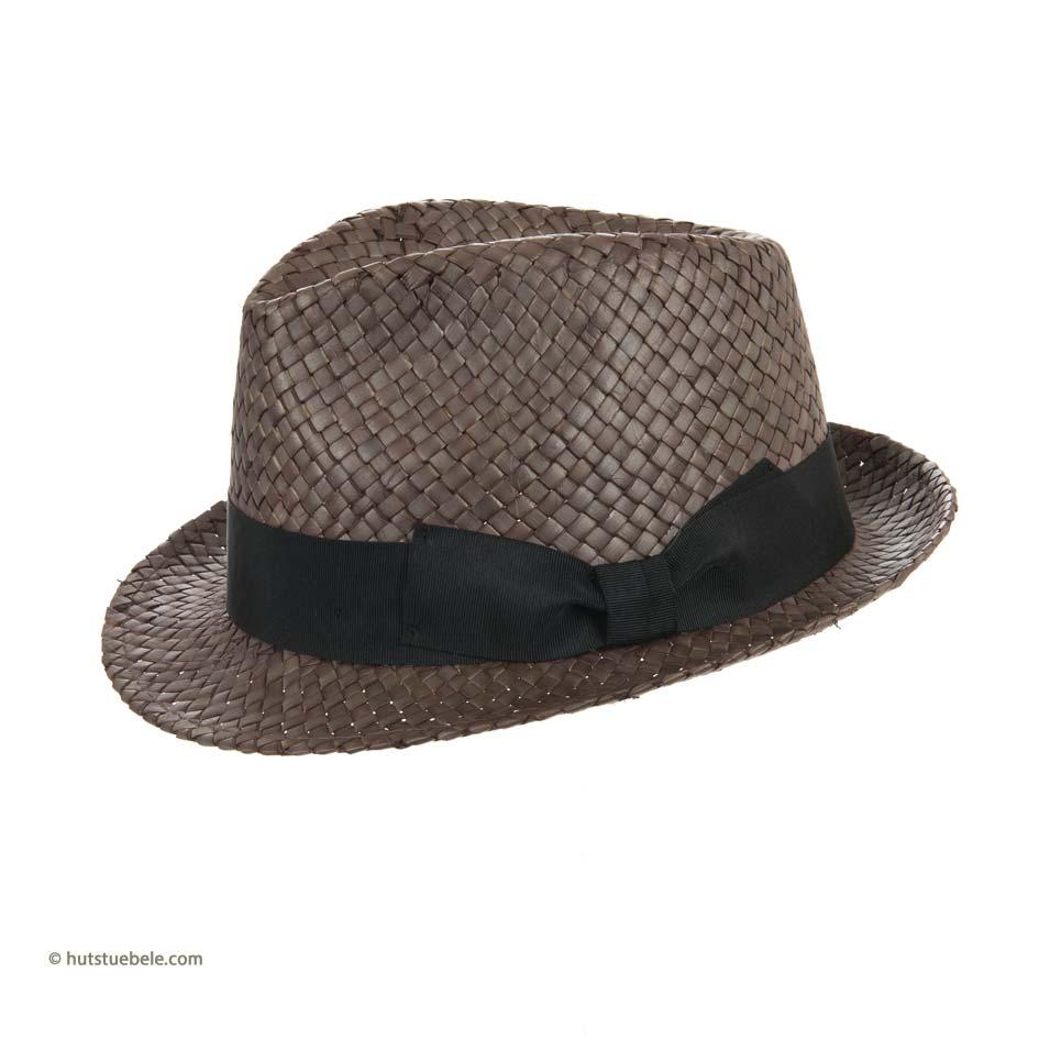 cappello trilby Newton in paglia naturale con grosgrain classico da donna e  uomo firmato Hutter 9a4b463fed2b