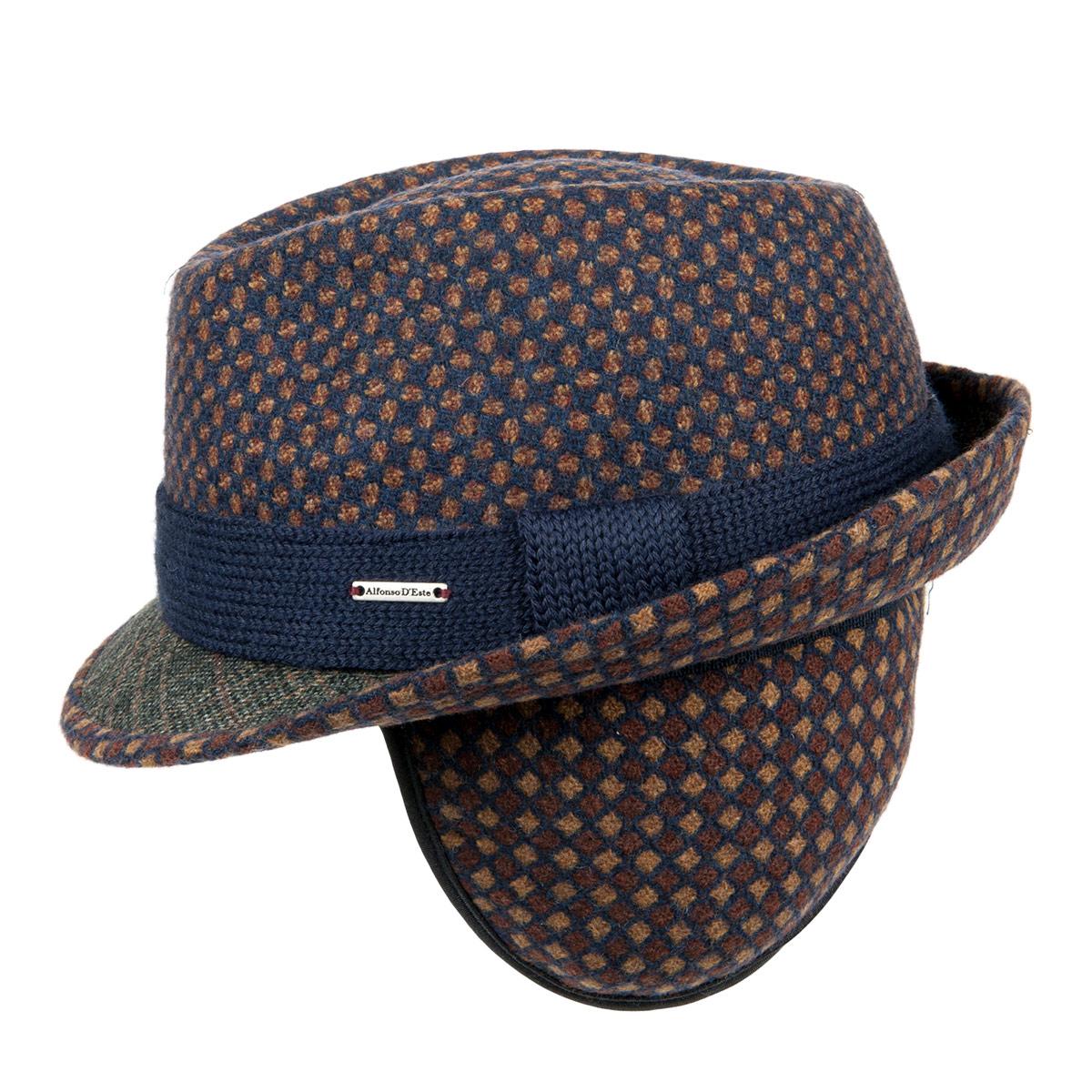 cappello trilby con paraorecchie e fodera firmato ALFONSO D ESTE 62e0097da526