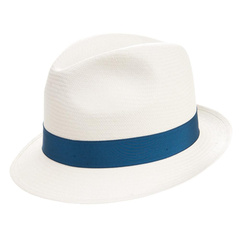 ... cappello trilby estivo in qualità paglia panama fine firmato BORSALINO 619108e1a270