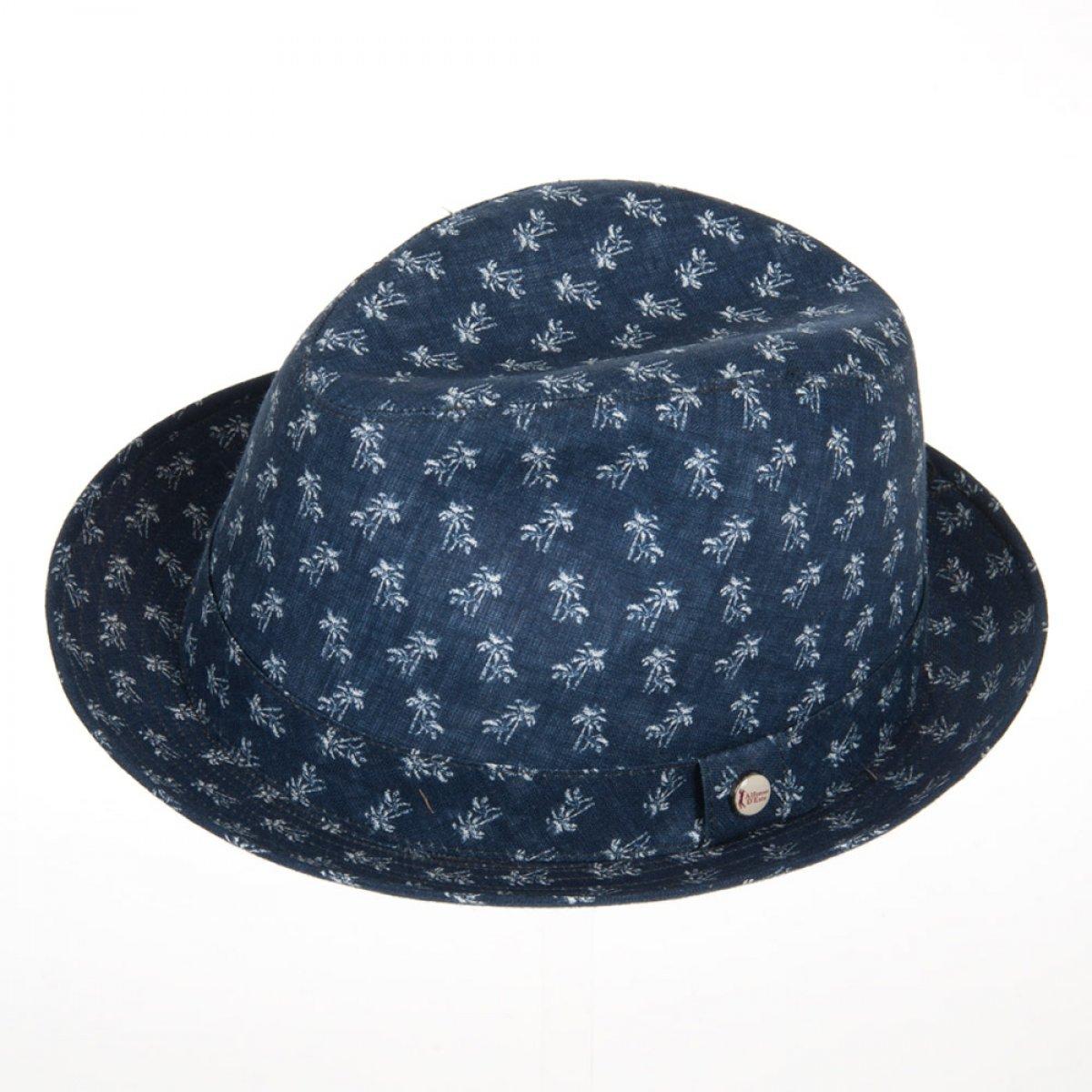 cappello trilby in lino firmato Alfonso d´Este ... 31800bf56a57
