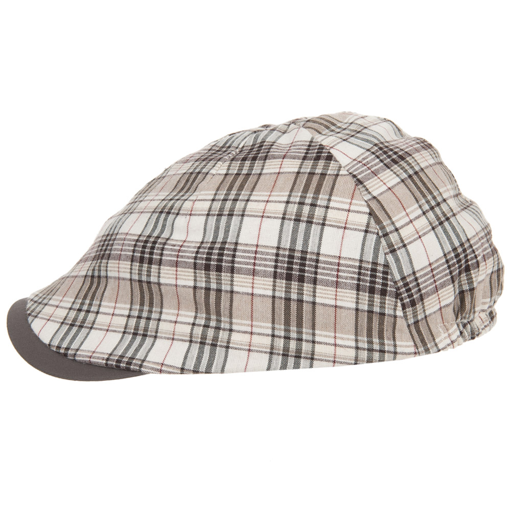 d7395234f3a38 checkered flat cap by Hutter