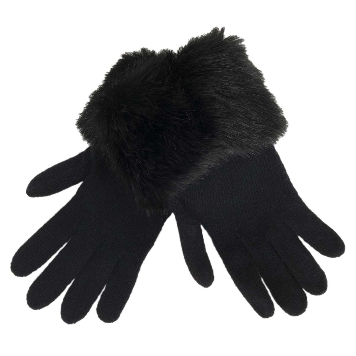 guanti con pelliccia ecologica firmati ALESSANDRA BACCI d8c4734adc1c