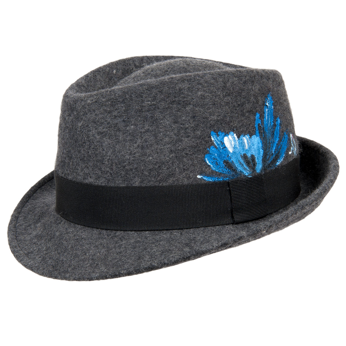 4fbed112a3bed hand painted trilby hat by ALFONSO D ESTE